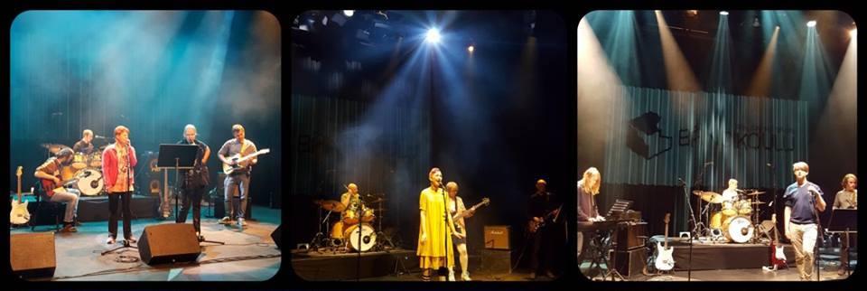Pohjois-Helsingin Bändikoululaisia konsertissa